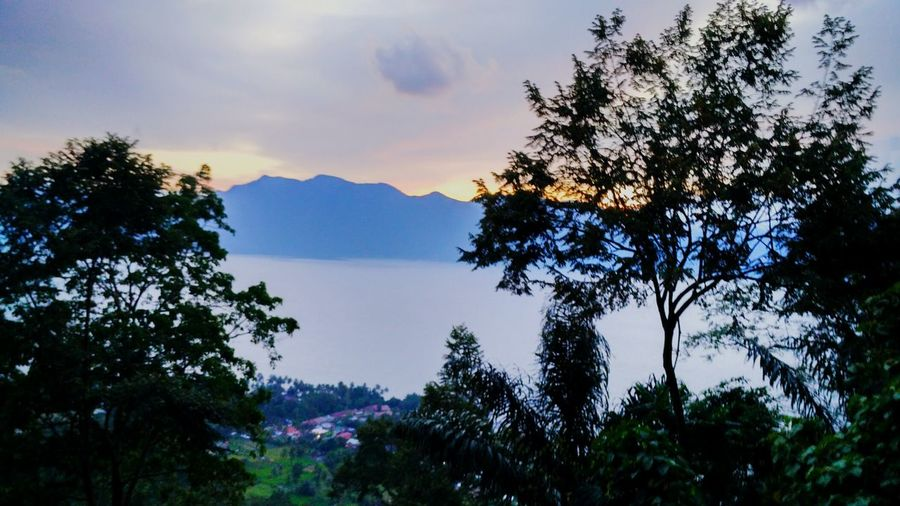 Senja di Maninjau Sumbarrancak Tree Mountain Scenics Tranquil Scene Growth Beauty In Nature Tranquility Water Nature Sky Cloud - Sky Non-urban Scene Outdoors Tourism Mountain Range No People Majestic Green Color Vacations Dramatic Sky Xiaomiphotograph