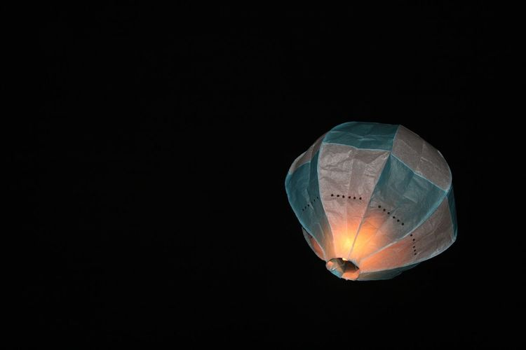 Close-Up Of Hot Air Balloon At Night