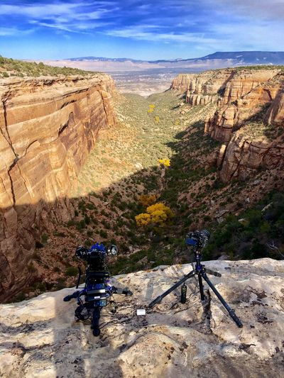 Timelapse Adventure Landscape Mountain Nature Rock - Object Rock Formation Day Sky Scenics Physical Geography Beauty In Nature Leisure Activity Camera Camera - Photographic Equipment Outdoors No People Sunlight Colorado