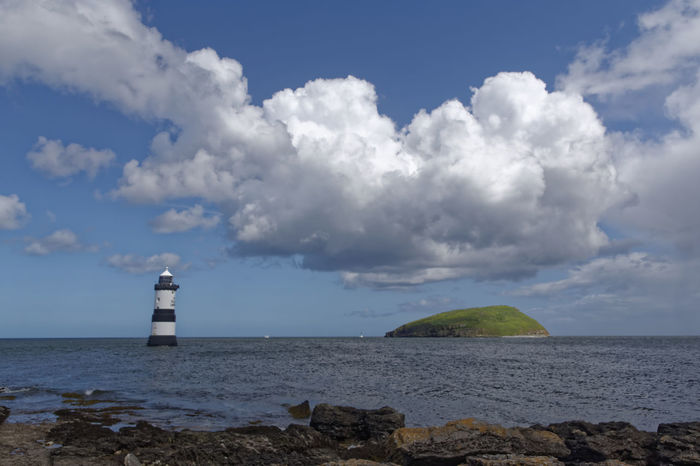 Penmon anglesey north wales Anglesey Beach Building Exterior Cloud - Sky Horizon Over Water Lighthouse No People North Wales Outdoors Protection Puffin Island Safety Sea Sky