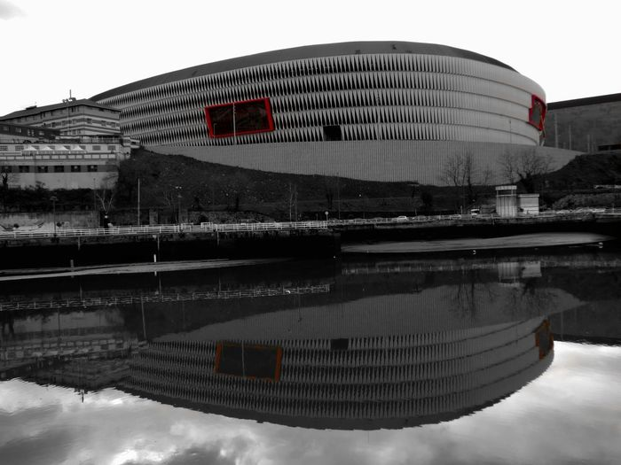 Soccer Euskadi Bilbaoarchitecture Bilbao Bilbaolovers Architecture Football Stadium Athletic Club Reflections Reflection_collection Reflections In The Water