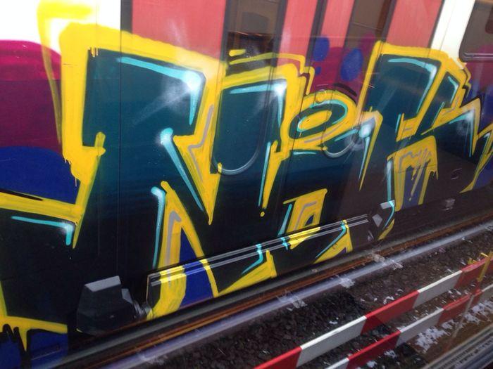 train by nok Zhtrains NOK Graffiti Trainbombing