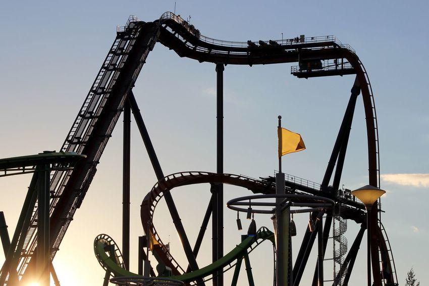 Roller Coaster Capital Of The World Cedar Point Roller Coaster Blue Sky