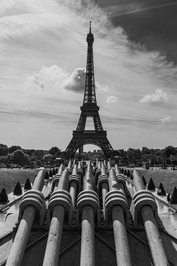 Architecture Built Structure Sky Cloud - Sky Travel Destinations The Past History Building Exterior Tower Travel City Nature Tourism Tall - High Metal Low Angle View Day No People Building Outdoors Iron - Metal Spire  Paris France Paris France Paris ❤