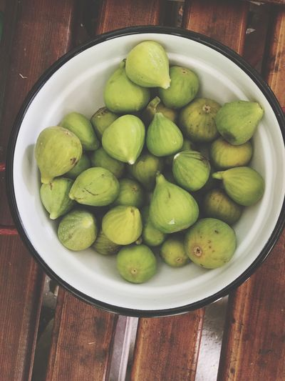 Freshness Fruit Green Color Healthy Eating Figs