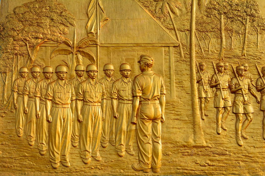 Relief Colonial Colonialism Gold Colored Ancient Civilization Full Frame Sculpture Backgrounds History Pattern Art And Craft Human Representation Close-up Carving - Craft Product Carving - Craft Activity Carving