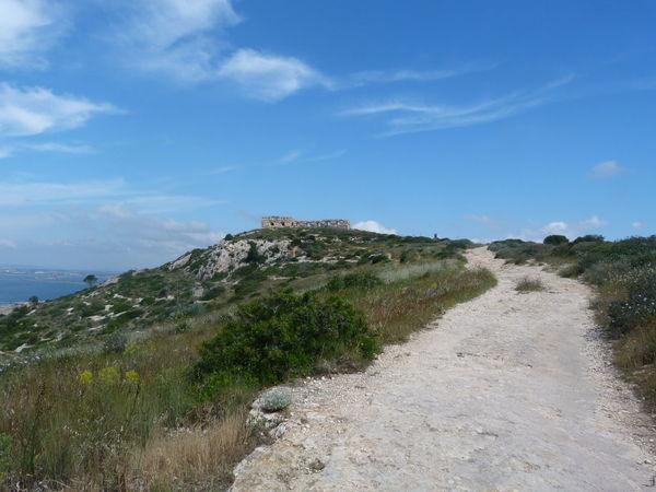 Cagliari, Sardinia Sardinia Sardegna Italy  Sardinia Sardegna Fortino Di Sant'Ignazio Sea Water Sand Blue Sky Landscape Grass Rock Formation Tranquil Scene Calm Rock - Object