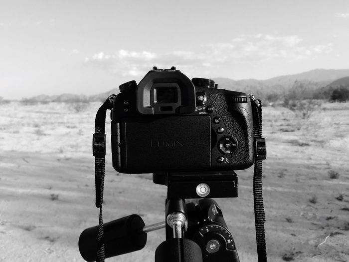 Photography Themes Camera - Photographic Equipment Sky Sea Digital Camera Nature Day Technology Outdoors Scenics Cloud - Sky Water No People Beach SLR Camera Beauty In Nature Close-up Digital Single-lens Reflex Camera Mountain Desert Blackandwhite