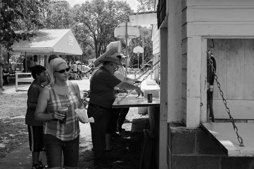 2016 Old Settlers Picnic Village of Western, Nebraska Americans B&w Photography Camera Work Casual Clothing Celebration Celebration Event Community Event Foodstall Hamburgers My Neighborhood Old Settlers Picnic Outdoors Park People Photo Essay Photography Photojournalism Small Town Life Small Town Stories Small Town USA Streetphoto_bw Streetphotography Summertime Western Nebraska