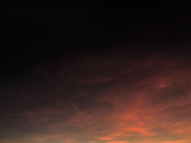 Sky Beauty In Nature Moon 😚 Radhime Albania