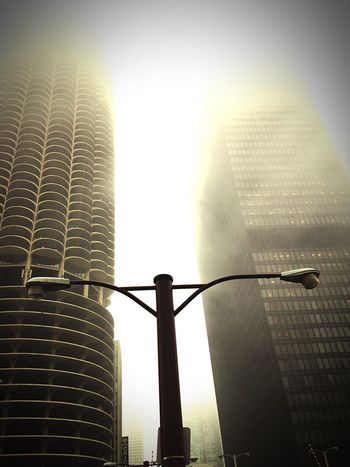 Rule Of Thirds Chicago Marina Towers Fog Street Lamp Hi Rise Photography IPhoneography