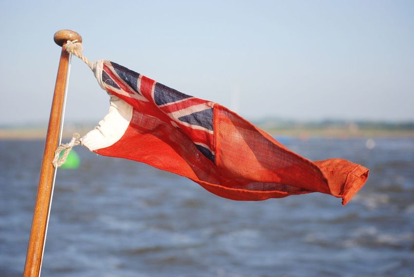 Red Ensign Flag Patriotism Wind No People Day Outdoors Red Clear Sky Nature Sky Close-up Sailing Uk Boating