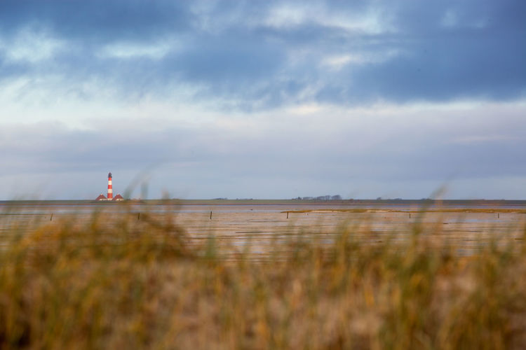 EyeEmNewHere Cloud - Sky Sky Nature Land Beauty In Nature Water Tranquility Grass Scenics - Nature Day Environment Tranquil Scene Beach Landscape Plant Non-urban Scene No People Outdoors Sea Built Structure Leuchtturm Westerhever Nordsee Northsea