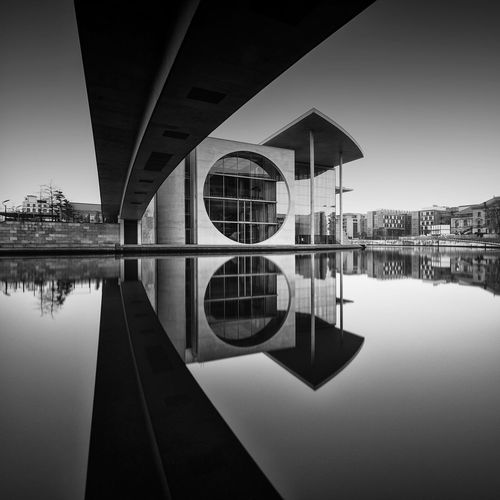 Marie-Elisabeth-Lüders Haus   Berlin (2017) Reflection Water Symmetry Lake Standing Water Architecture Built Structure Waterfront Building Exterior No People Nature Outdoors Sky Tree Day Cityscape Longexposure EyeEm Best Shots - Black + White EyeEm Best Shots EyeEm Best Edits Longexpoelite Bnw Fine Art Photography Blackandwhite EyeEm The Architect - 2017 EyeEm Awards Discover Berlin Black And White Friday The Graphic City The Architect - 2018 EyeEm Awards
