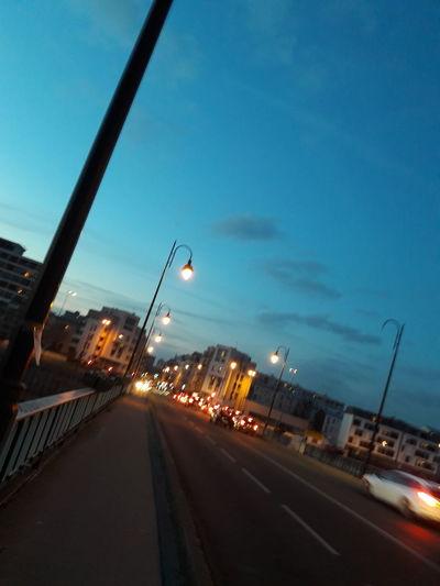 Street Light Illuminated Dusk Transportation Night Street Road