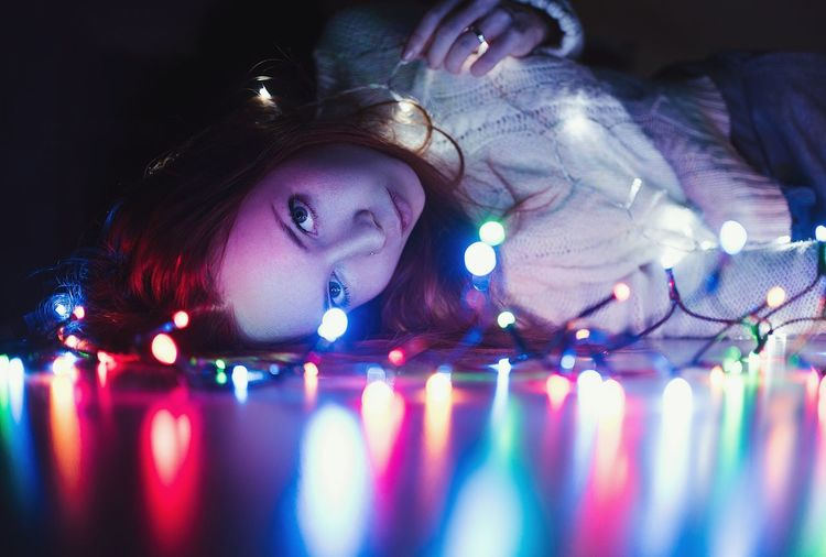 Christmas Lights Christmas Decoration Girl Portrait Film Photography EyeEm Best Shots EyeEmNewHere EyeEm Selects Gallery Photography Vision Humanıty Great Personality  person Eyesight Human Eye Multi Colored Young Women Women Females Scientific Experiment Headshot Futuristic Business Finance And Industry Iris - Eye Eyelash Eyebrow Vision Eyeball Hazel Eyes