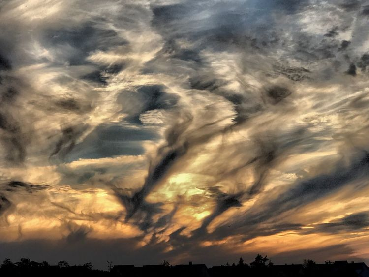 Sunset at the village Cloud - Sky Sky Beauty In Nature Tranquility Scenics - Nature Sunset Tranquil Scene
