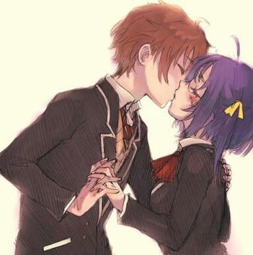 Very romantic couple 😍😍 Rikka Yuuta Manga Anime Animeboy Animegirl Animelover Chuunibyou Kiss