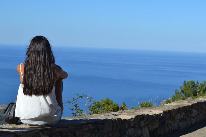 Sea Relaxation Beach Water Travel Destinations Outdoors Women Vacations Horizon Over Water Port De La Selva Costa Brava Spaın