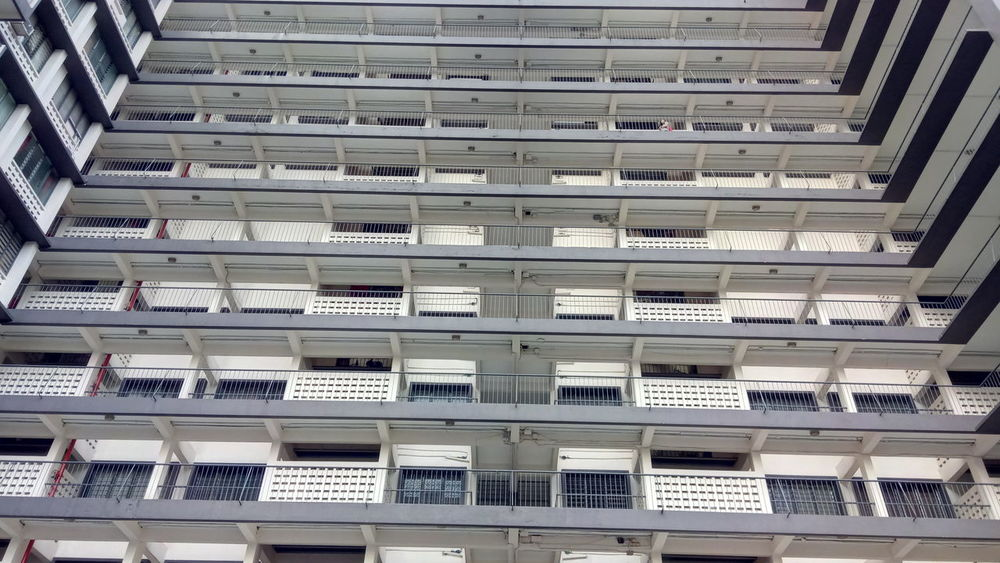 High-Rise Apartment Asian City Balcony City Living Communal Living Compact Cramped High Density Low Cost Flats Multi Storey Old Building  Outdoor Pigeon Holes Urban Fashion Jungle EyeEmNewHere #urbanana: The Urban Playground