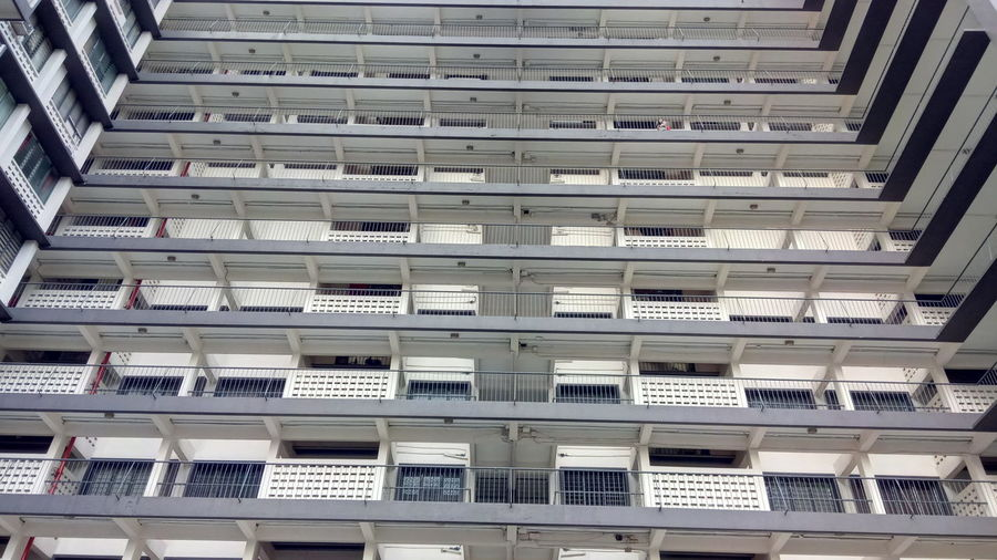 High-Rise Apartment Asian City Balcony City Living Communal Living Compact Cramped High Density Low Cost Flats Multi Storey Old Building  Outdoor Pigeon Holes Urban Fashion Jungle