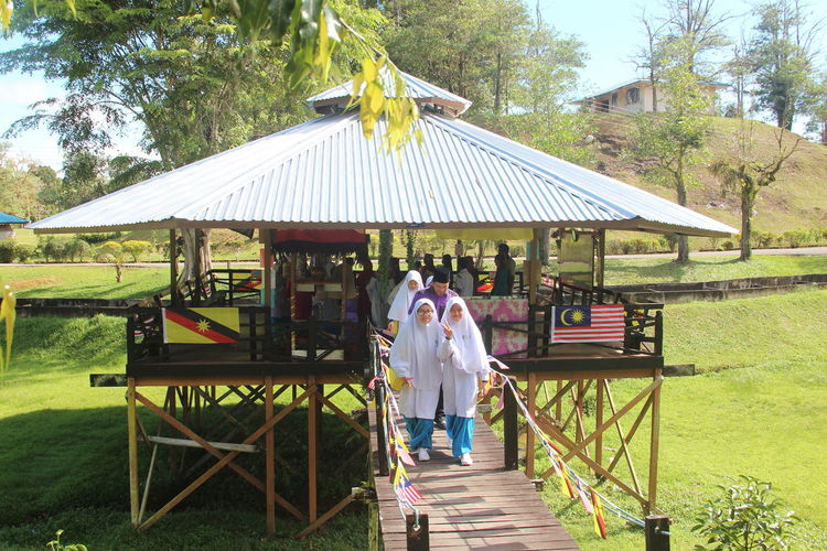 Architecture Bidayuh Bonding Ethnics Girls Nature Outdoors Real People School Uniform Visit Sarawak