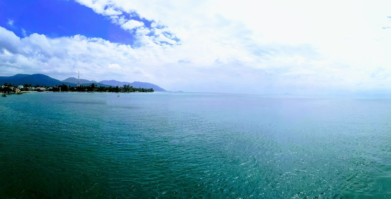 sea, scenics, beauty in nature, tranquility, tranquil scene, sky, nature, water, outdoors, no people, blue, day, horizon over water, mountain