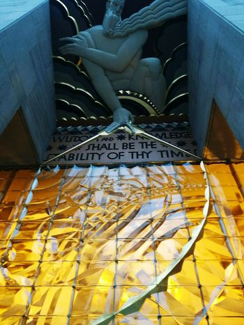 Wisdom and knowledge shall be the stability of thy times. NYC Photography Rockefeller Center Rockefeller Plaza USA Photos