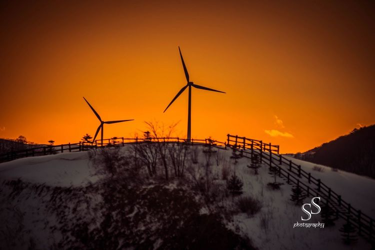 Pyeongchang, South Korea the proposed location for winter olympics 2018. This picture was taken during winter at sunset. First Eyeem Photo