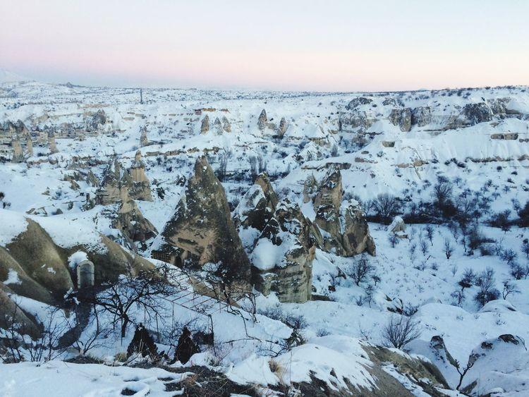 Winter Cold Temperature Snow Weather Nature Beauty In Nature No People Frozen Landscape Cappadocia Cappadociaturkey