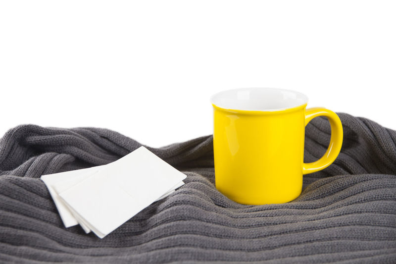 Cold Cold Temperature Cup Health Ill Nasal Scarf Yellow