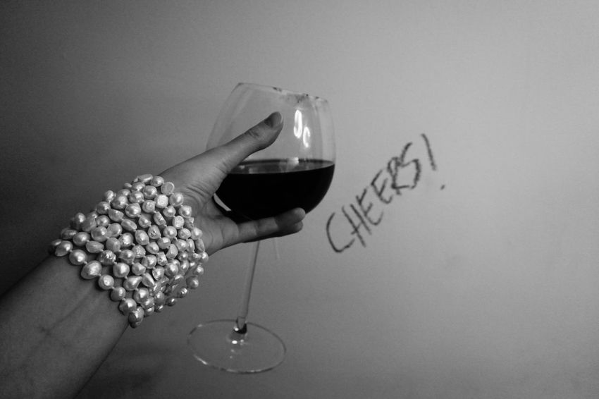 Wine Moments Cheers Blackandwhite Objects
