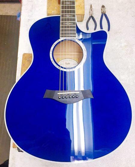 Estoy Enamorado de esta preciosura. Taylorguitars Blue FavoriteColor.