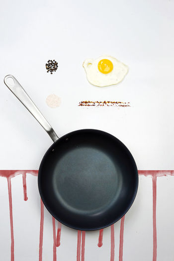 Indoors  No People Food And Drink Directly Above Food Kitchen Utensil Still Life Text Close-up Cooking Pan High Angle View Communication Pan Table Freshness Western Script Household Equipment Spoon Eating Utensil Egg The Creative - 2019 EyeEm Awards