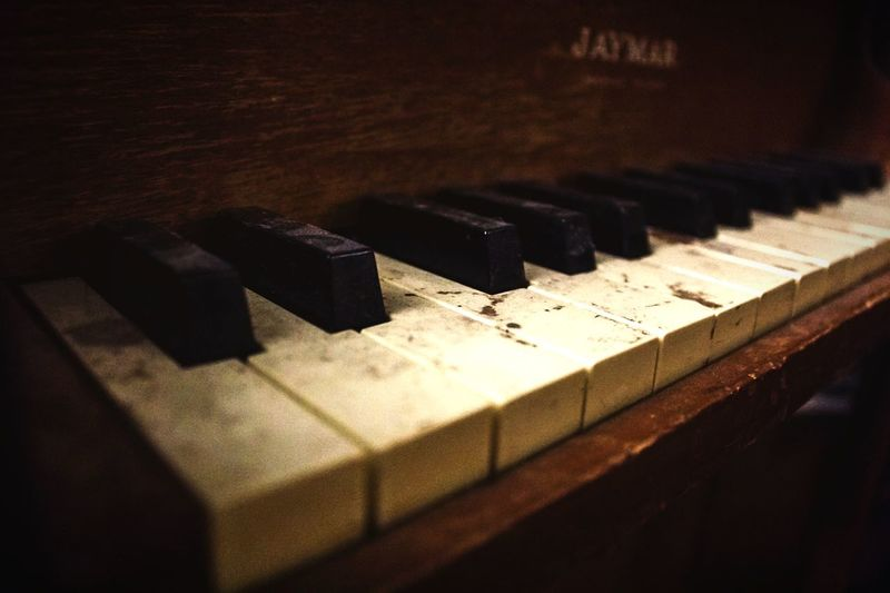 """""""The skeletal remains of a long-forgotten melody"""" (2017) Piano Musical Instrument Piano Key No People Close-up Music Arts Culture And Entertainment Old Piano Keys Moody Atmosphere"""