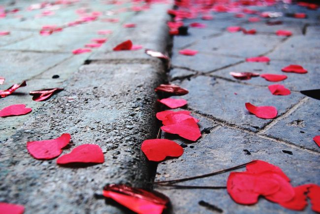 Nature Heart Paper Asphalt Red Close-up Cloud - Sky Grey Wedding Love Urban Freedom EyeEmNewHere