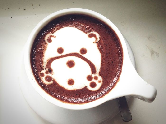 Bear-y cute 🐻 Coffee - Drink Coffee Cup Drink Food And Drink Refreshment Frothy Drink Froth Art Close-up Cup Table Freshness No People Indoors  Froth Cafe Day Warmth Bear Cute Cute Pets EyeEmNewHere Art Is Everywhere Visual Feast Mix Yourself A Good Time Food Stories