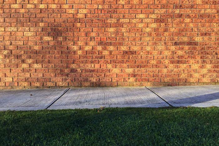 Sidewalk Footpath Wall Brick Brick Wall Bricks Texture Pattern