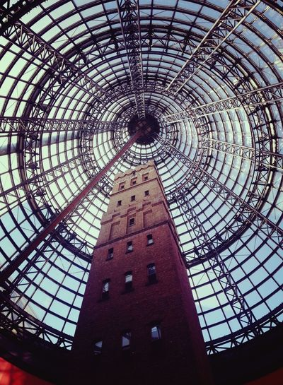 Melbourne Central Shot Tower on a Sunny Sunday Morning