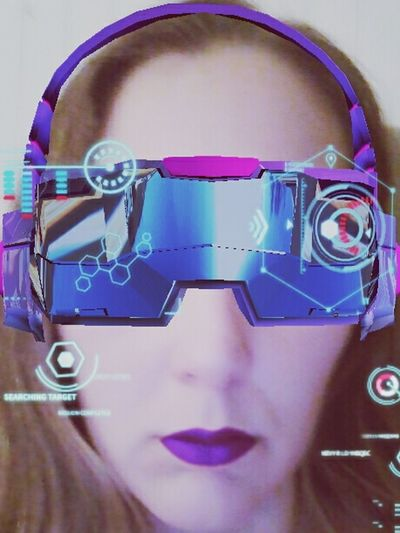 EyeEm Ready   Futuristic Front View One Woman Only Human Face Technology Adult Close-up One Person Young Adult Indoors  Day One Young Woman Only Cyberspace