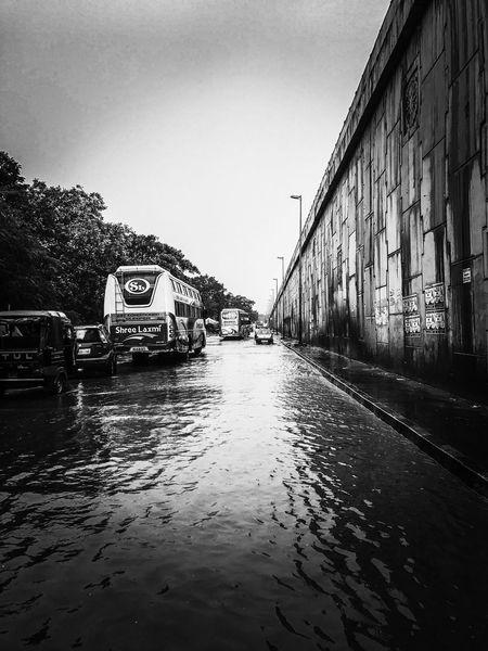 EyeEm Selects IPhoneography Shotoniphone7plus Mobilephotography Blackandwhite Monochrome Monsoon Rain Flood Road Bridge Architecture Bhubaneswar Odisha India