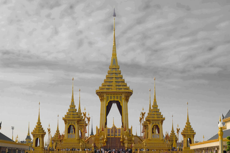 Royal funeral pyre in Royal cremation ceremony King Bhumibhol Rama 9 Religion Pagoda Gold Architecture Landscape Beauty Arts Culture And Entertainment Arrival Tourism Human Body Part Gold Colored Silver Colored Statue Business Finance And Industry Travel Ancient Fashion Nature Adulation King - Royal Person Cremation Ceremony Bhumibol Adulyadej King Bhumibol 💛👑 Bangkok