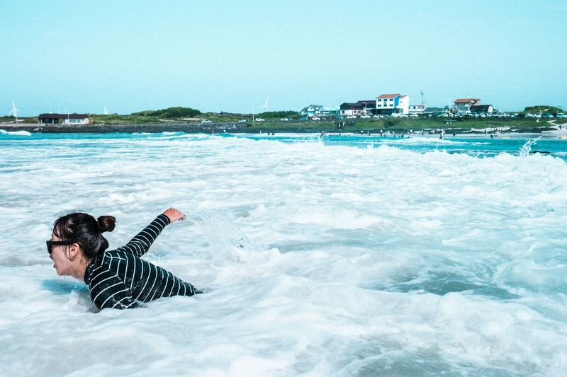 JEJU ISLAND  Ocean Waves Swimming Scenery People Enjoying Life Eye4photography  EyeEm Best Shots EyeEm Korea