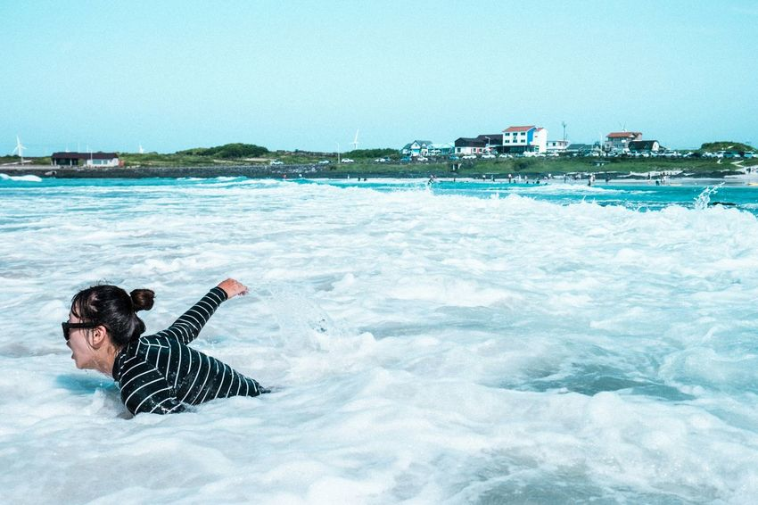 JEJU ISLAND  Ocean Waves Swimming Scenery People Enjoying Life Eye4photography  EyeEm Best Shots EyeEm Korea