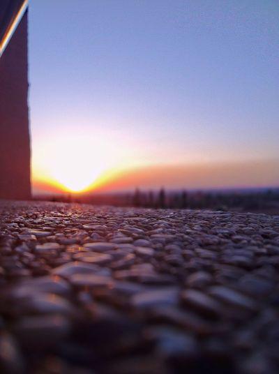 Benimellal Sunset Surface Level Sky Clear Sky No People Nature Selective Focus Sun Scenics Modern Workplace Culture