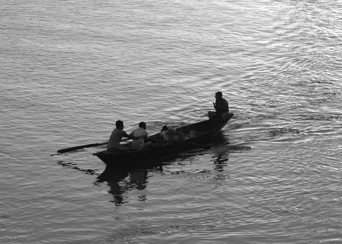Assam, India Boating Brahmaputra India A Nautical Vessel Real People River Togetherness Two People Waterfront Perspectives On Nature Be. Ready.