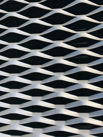 Pattern Pattern Backgrounds Full Frame No People Repetition Architecture In A Row Design Built Structure Metal Shape Textured  White Color Wall - Building Feature Close-up Day Geometric Shape