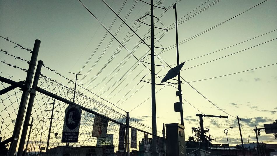 Tower Low Angle View Sky Outdoors No People Day Nature Bird Telephone Line
