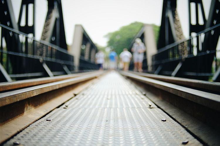 Railway Bridge On Sunny Day