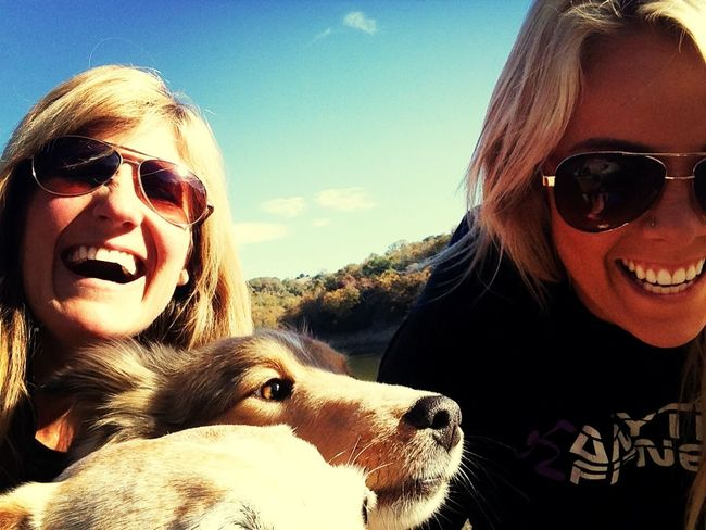 2 Girls and 3 Dogs Happiness